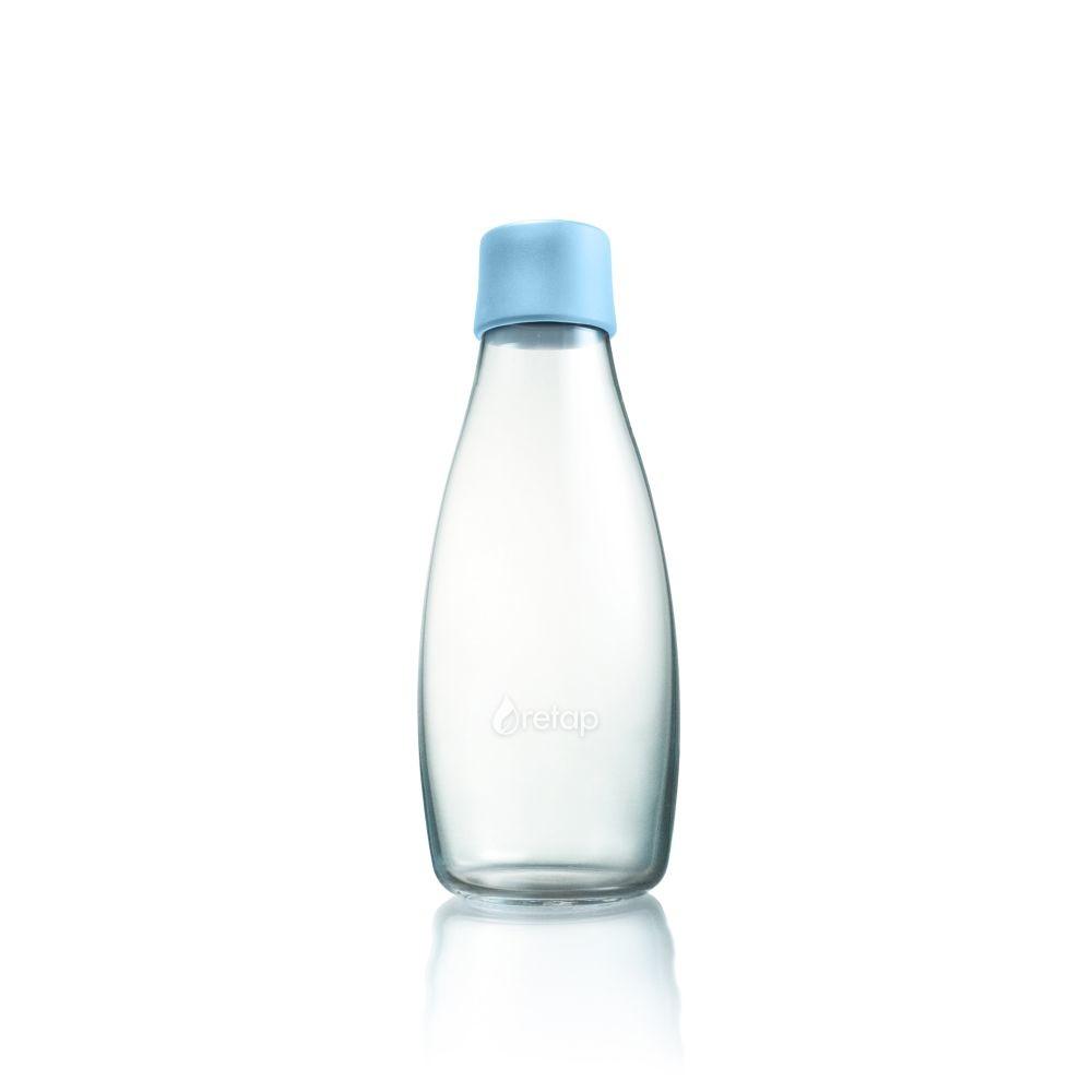 Pastelovomodrá sklenená fľaša ReTap s doživotnou zárukou, 500ml