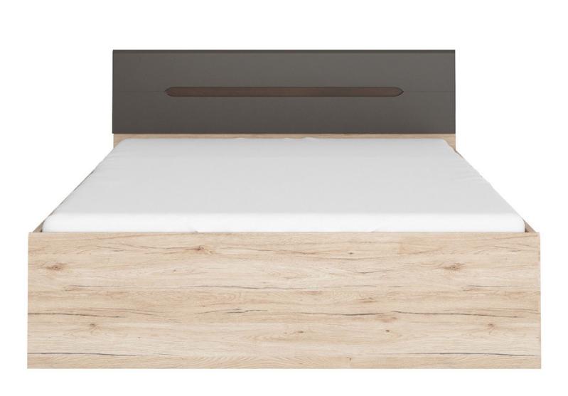 Manželská posteľ Elpasso LOZ/160   Farba: dub san remo svetlý / šedý wolfram