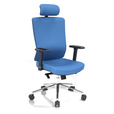 Rauman Kancelárska stolička Vella, modrá s hlavovou opierkou VELLA AF B16