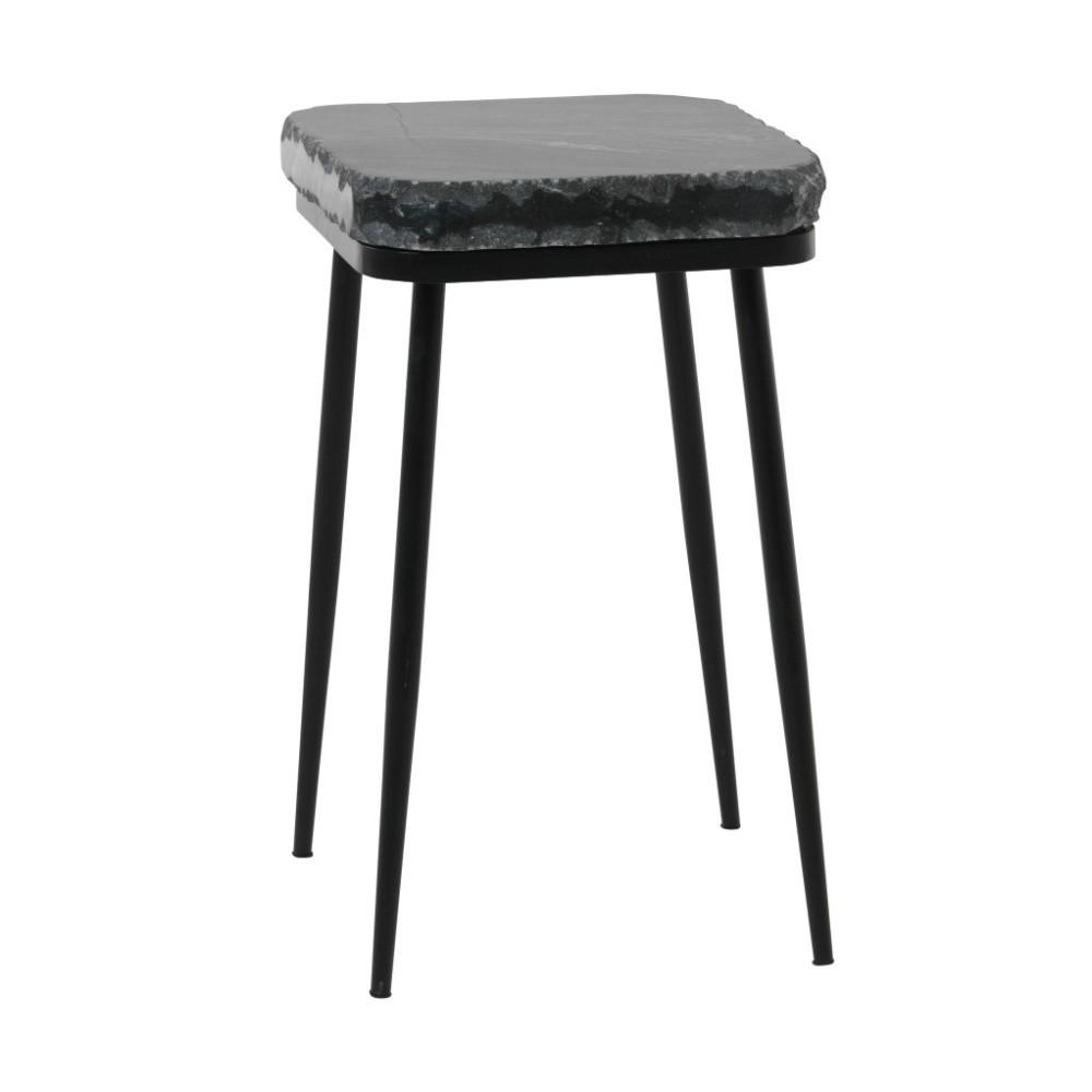 Odkladací stolík s tmavosivou mramorovou doskou Fuhrhome Naples