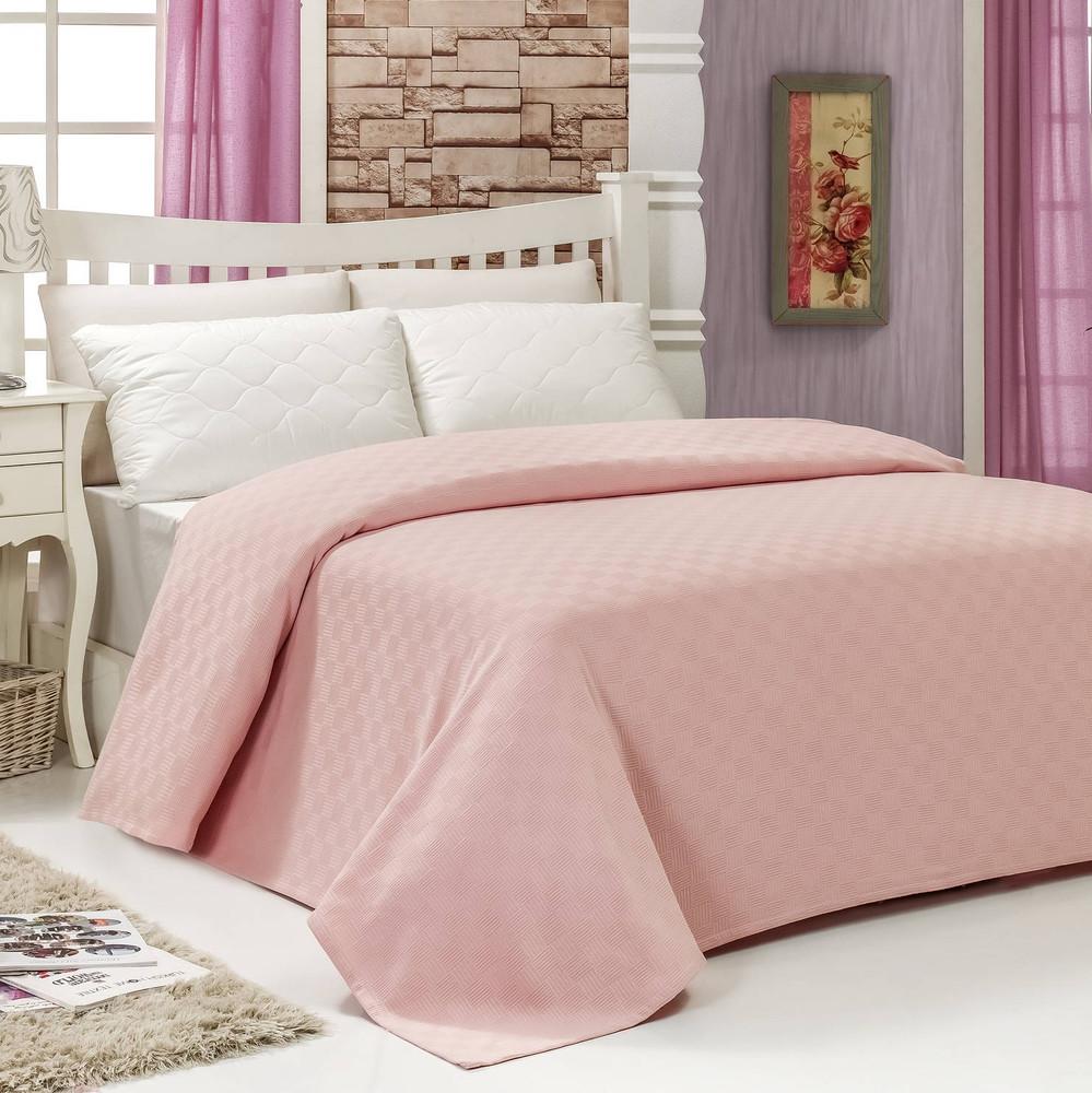 Prikrývka na posteľ Pique Powder, 200x240cm