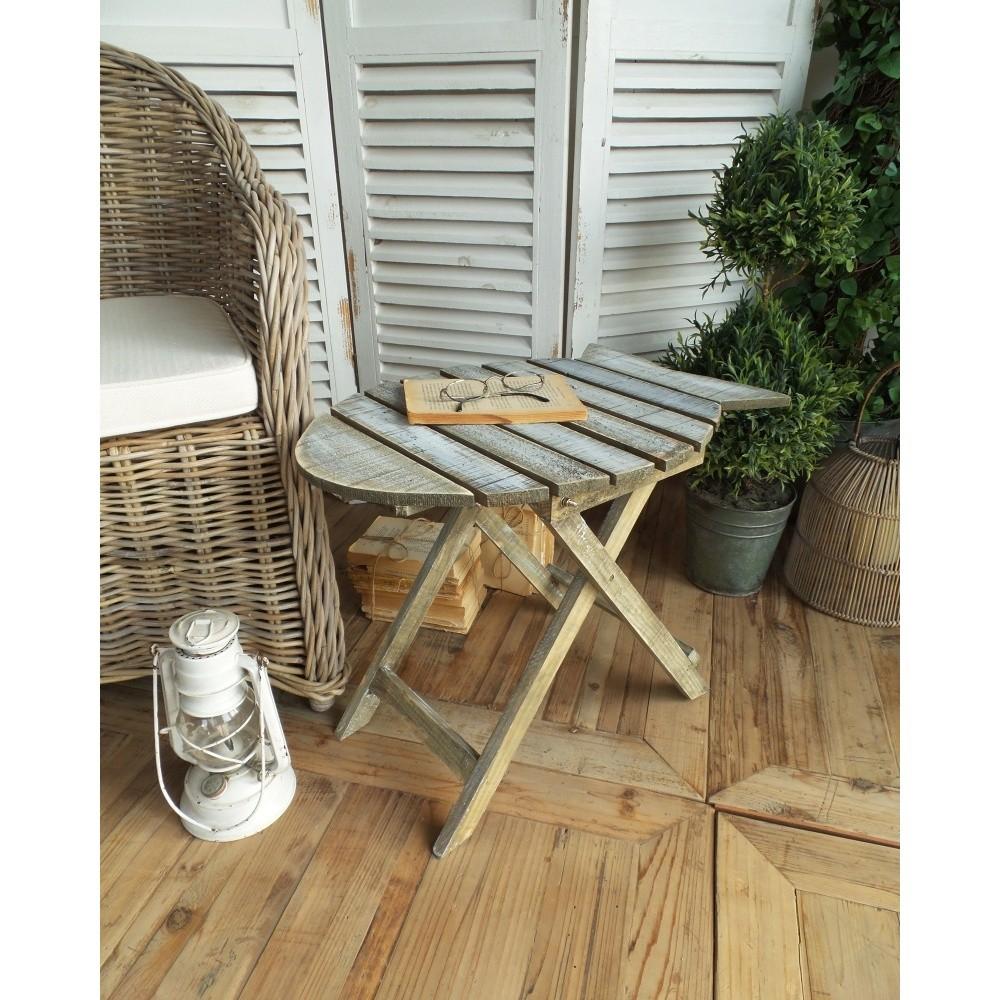 Drevený rozkladací stolík Orchidea Milano Vintage Finish
