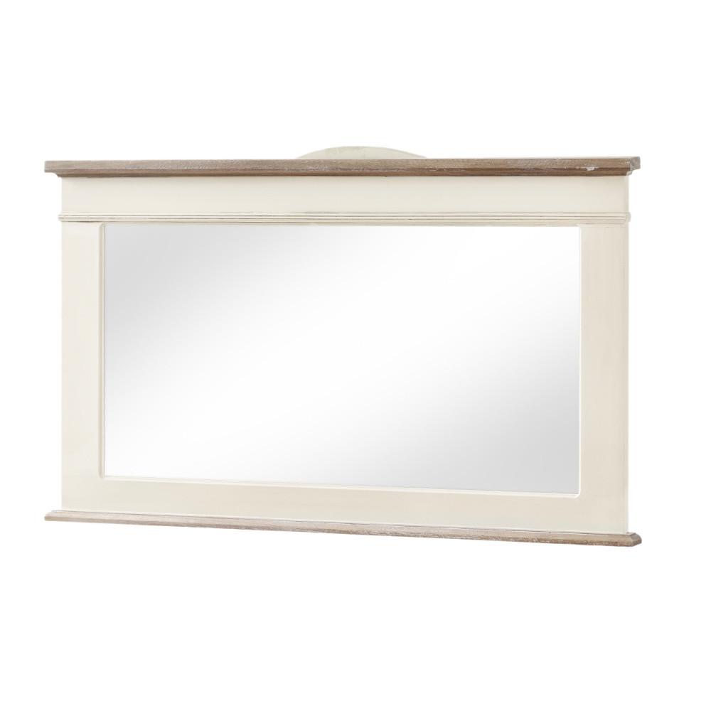 Zrkadlo v krémovom ráme z topoľového dreva Livin Hill Rimini, výška 57 cm