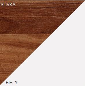 Konferenčný stolík SOLO SOL 03   Farba: Slivka / biela