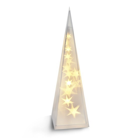 Solight Vianočná pyramída 16 LED teplá biela, 45 cm