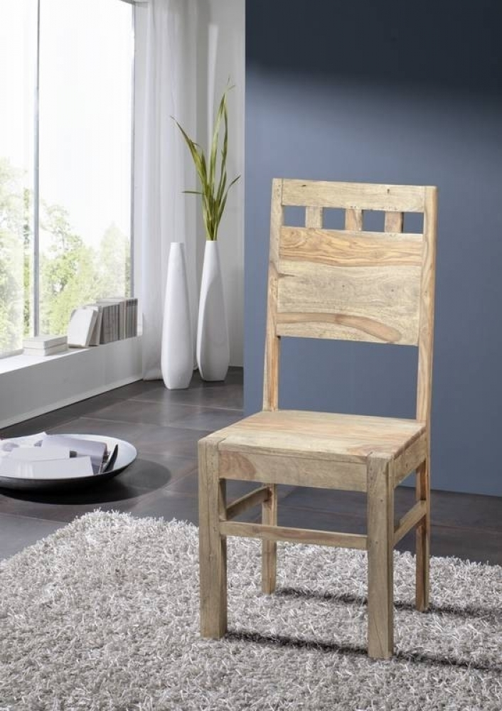 NATURE GREY #120 Sheesham  stolička, masívne palisandrové drevo