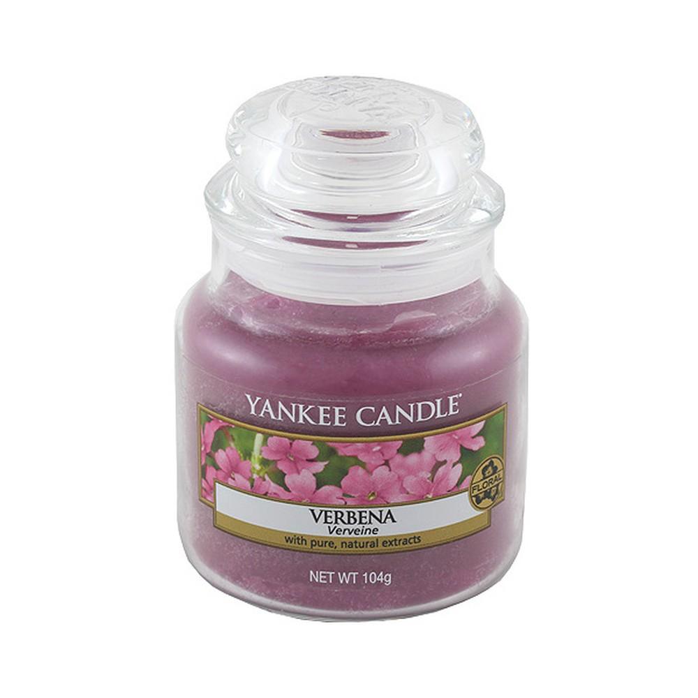 Vonná sviečka Yankee Candle Verbena, doba horenia 25 - 40 hodín
