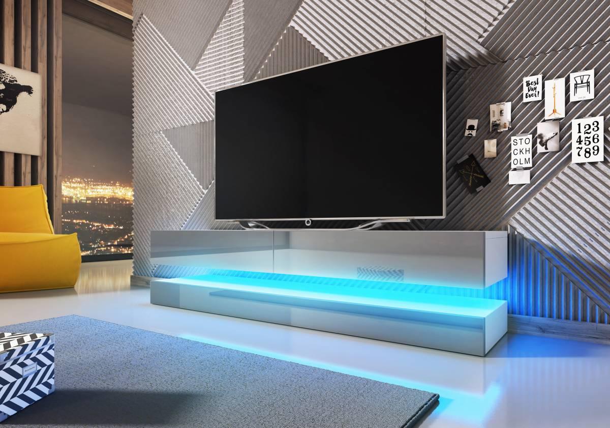 TV stolík Fly (sivý lesk)