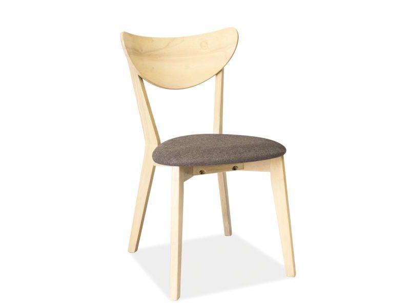 Stolička KD-37, dub bielený/šedá