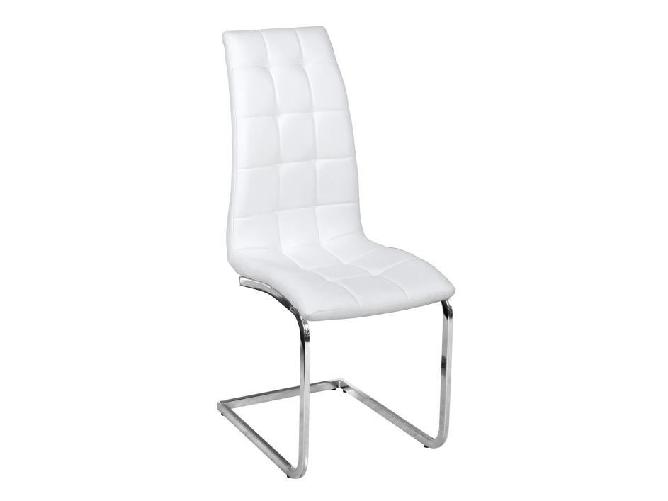 Jedálenská stolička Dulcia (biela + chróm)