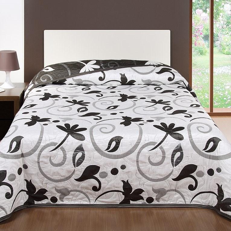Forbyt Prehoz na posteľ Perola, sivá, 240 x 260 cm