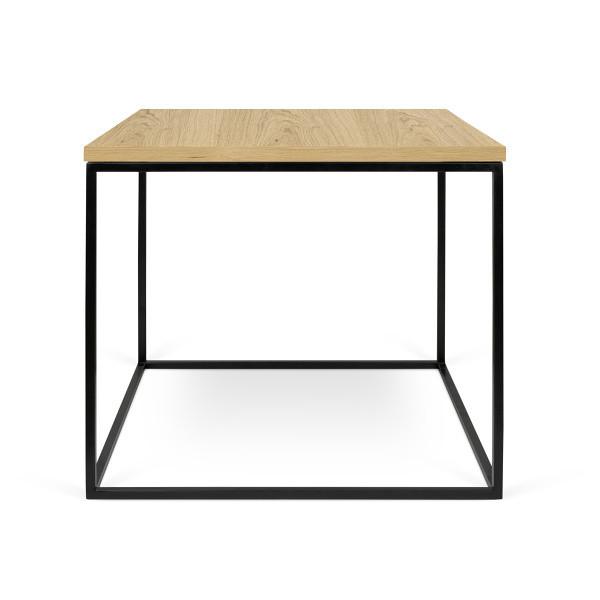 Konferenčný stolík s čiernymi nohami TemaHome Gleam, 50cm
