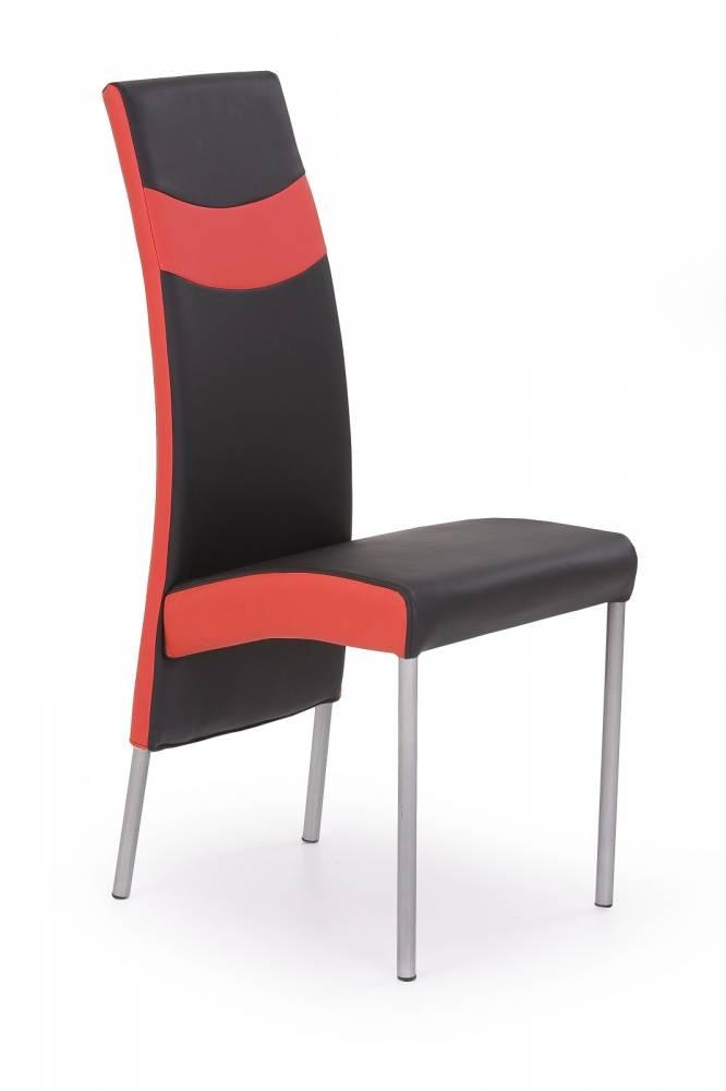Jedálenská stolička K51 čierna + červená