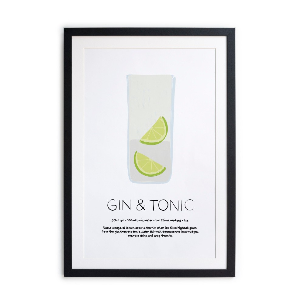 Obraz Really Nice Things Gin Tonic, 40 × 50 cm