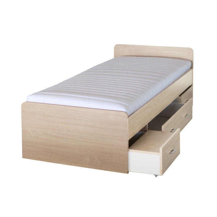 TEMPO KONDELA DUET 80262 90 posteľ - javor
