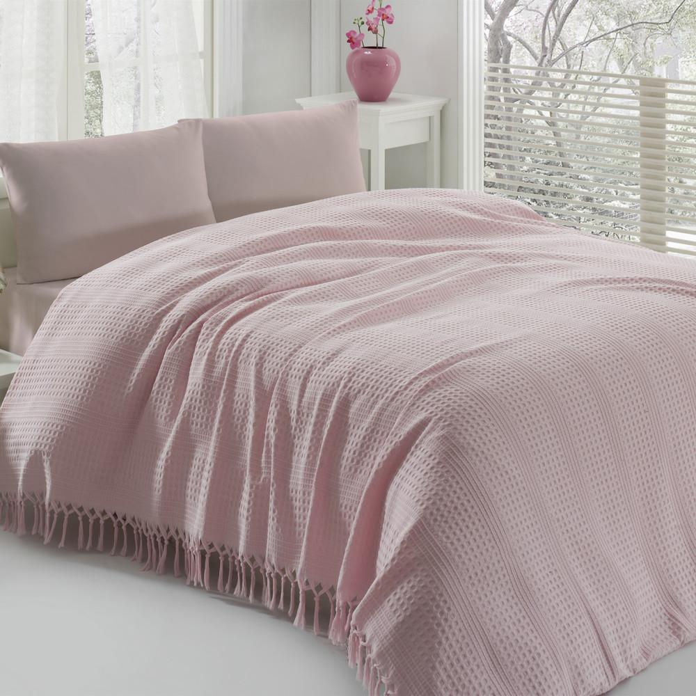 Ľahká prikrývka na posteľ Pique Powder,220x240cm