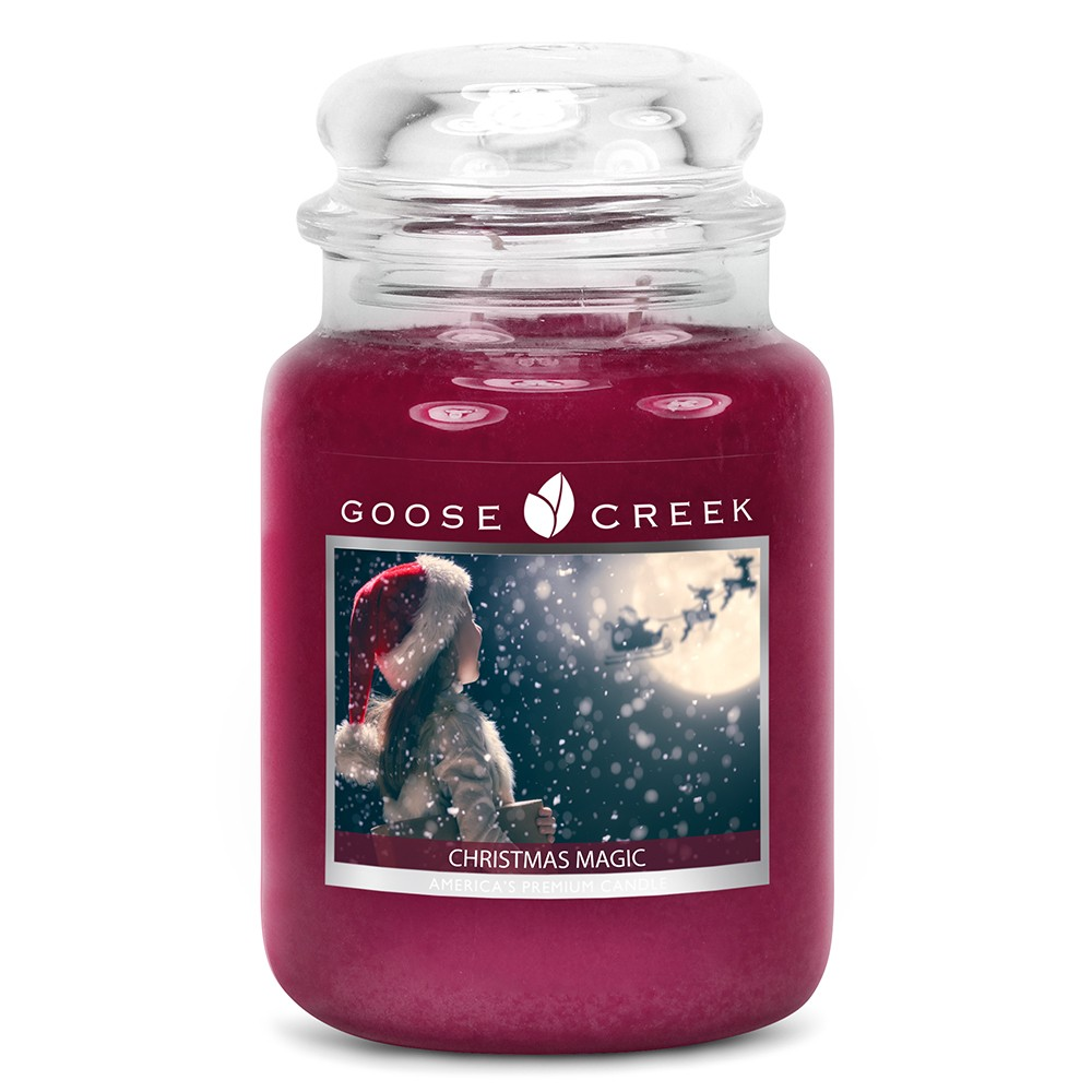 Vonná sviečka v sklenenej dóze Goose Creek Kúzlo Vianoc, 0,68 kg