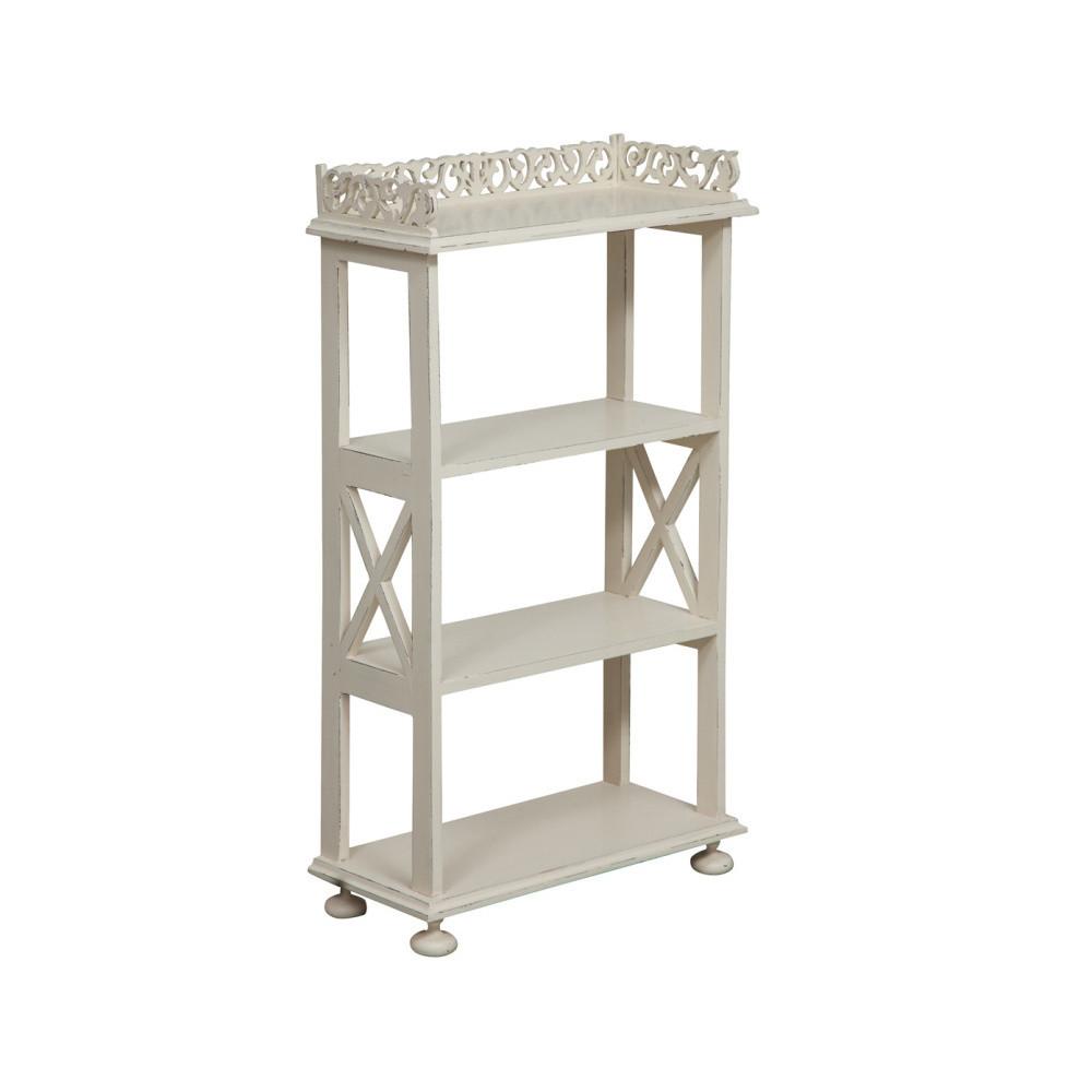 Drevený biely stolík Biscottini Eder