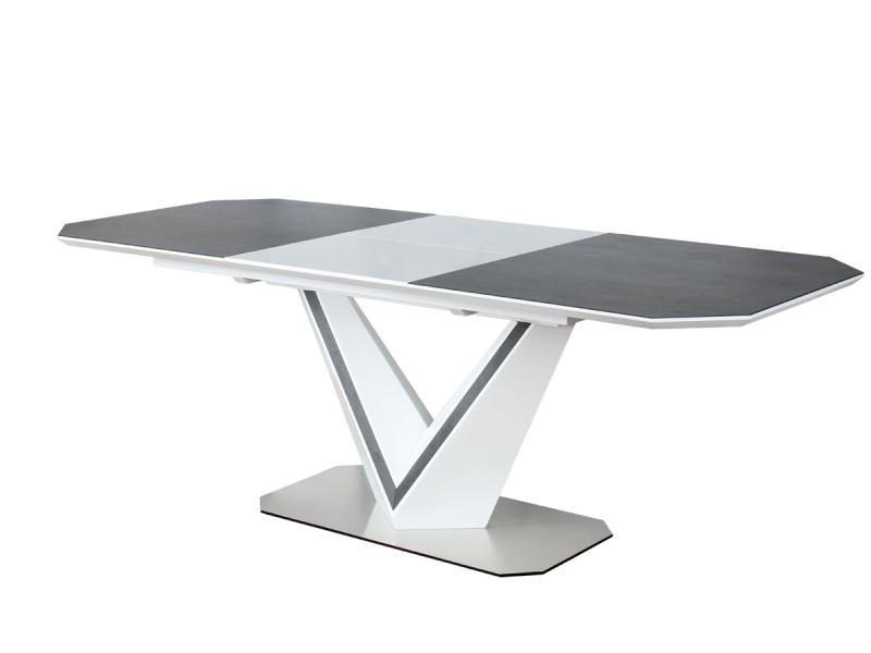 VALTERO KERAMIK jedálenský stôl, biela/šedá