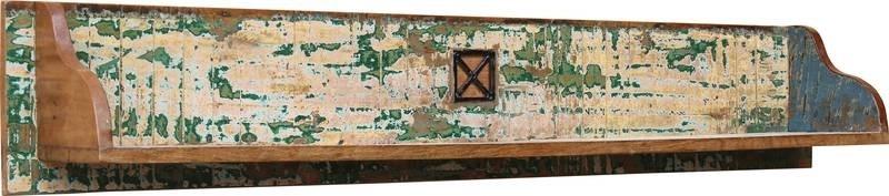 SPIRIT Nástenný regál #118 indické lakované drevo