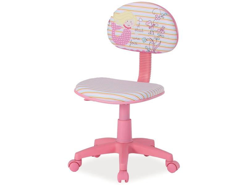Detská stolička Hop (ružová + vzor)