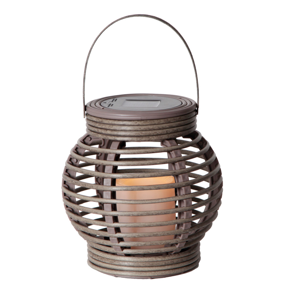 Sivý solárny LED lampáš Best Season Rustic