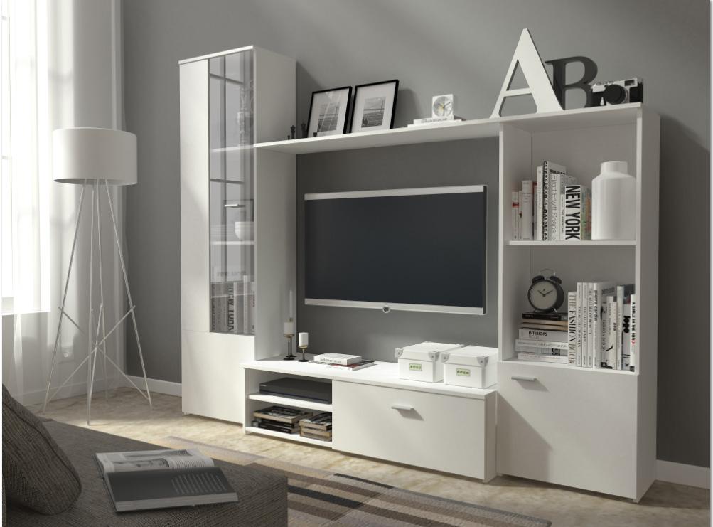 Obývacia stena HUGI biela