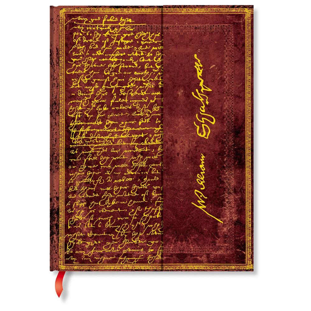 Nelinkovaný zápisník s tvrdou väzbou Paperblanks Shakespeare, 18 x 23 cm