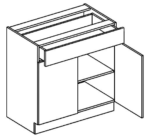 BIANCA dolná skrinka so zásuvkou D80S1