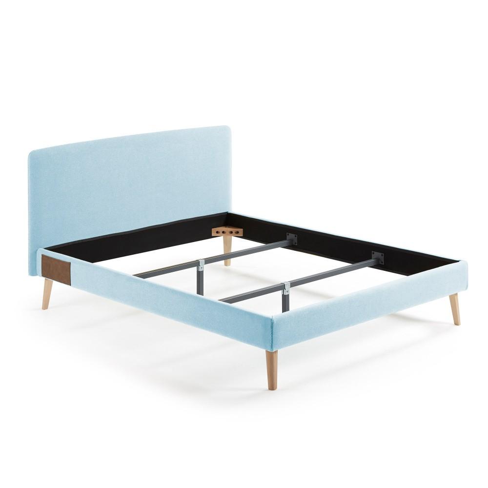 Svetlomodrá dvojlôžková posteľ La Forma Lydia, 190×150cm
