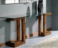 Furniture nábytok  Masívny toaletný stolík so sklom  z Palisanderu  Rabíndranáth  40x25x75 cm
