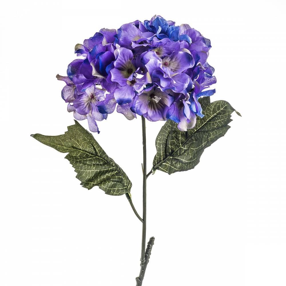 Umelá kvetina hortenzia modro- fialová, 60 cm, Livo