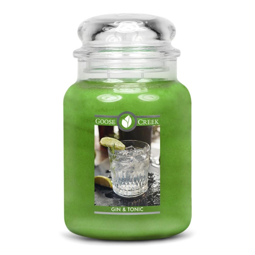 Vonná sviečka v sklenenej dóze Goose Creek Gin & Tonic, 150 hodín horenia
