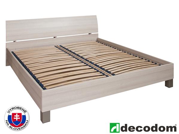 Manželská posteľ 180 cm Decodom Cassanova jaseň coimbra (s roštom a úl. priestorom)