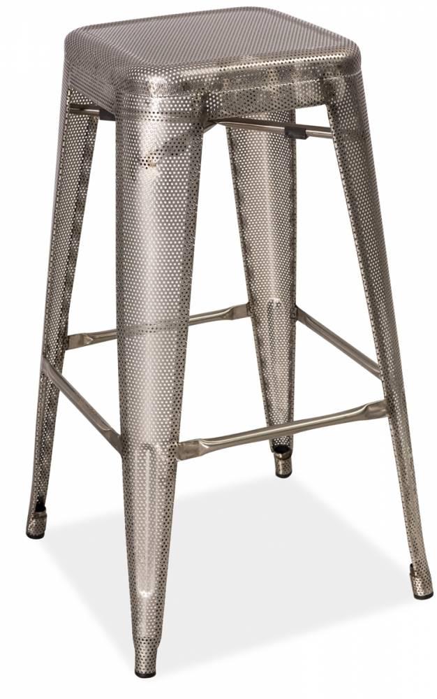 LANG barová stolička, dierovaná oceľ