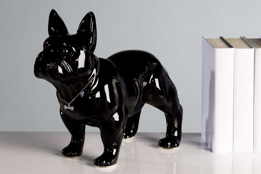 Dekoratívna soška MOPS - čierna
