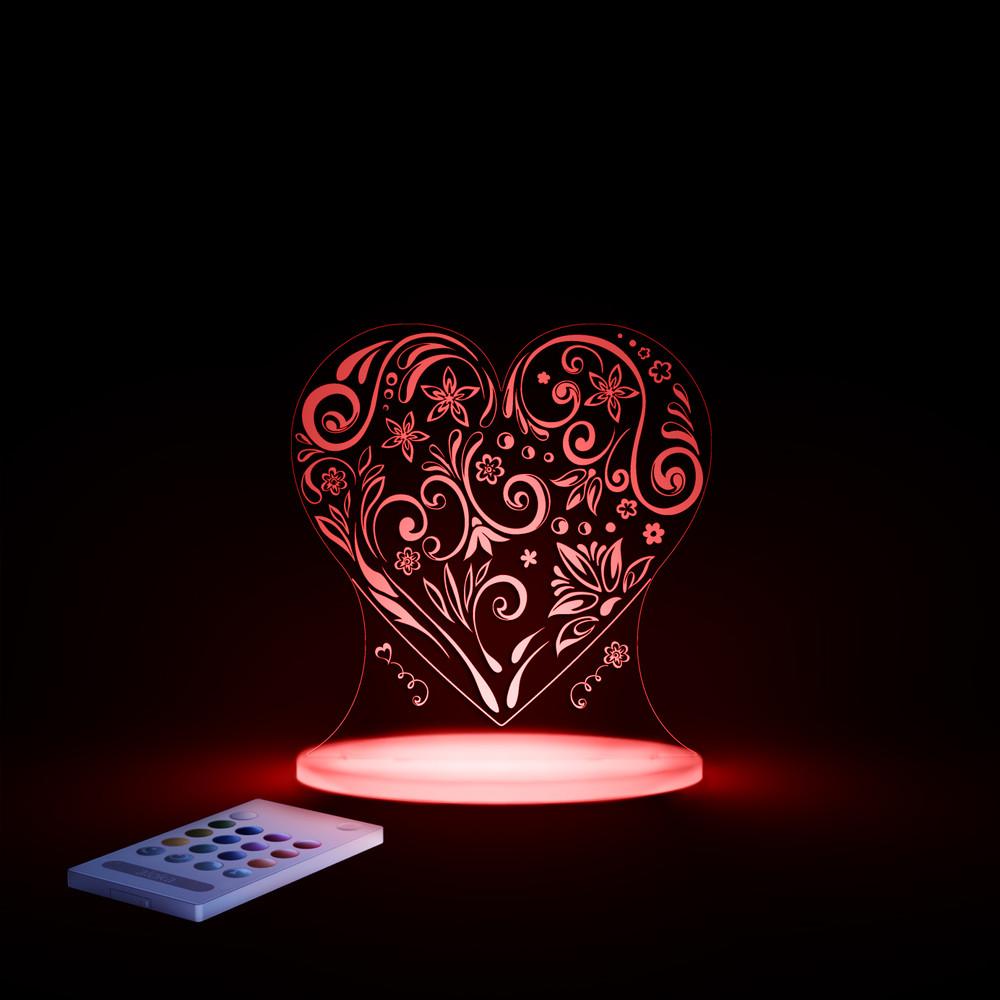 Detské LED nočné svetielko Aloka Loveheart