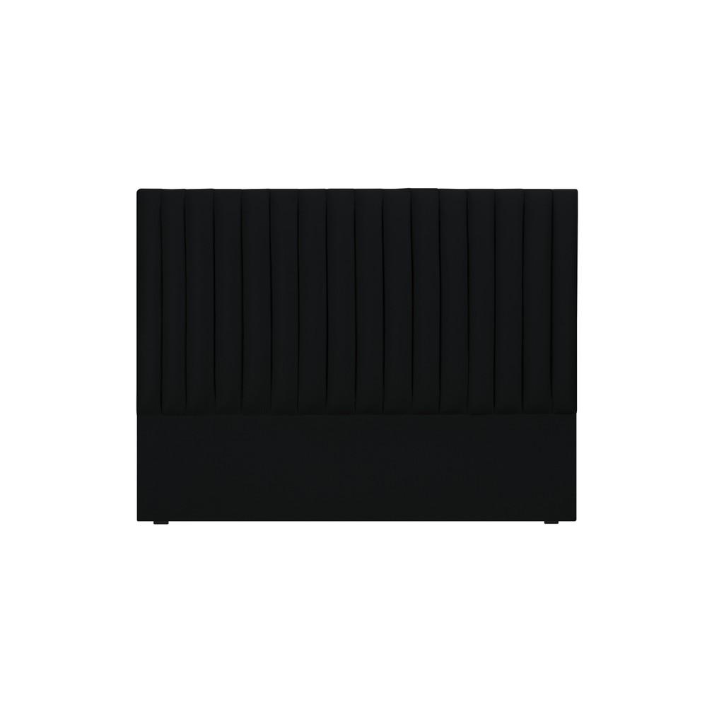 Čierne čelo postele Cosmopolitan design NJ, 160×120 cm