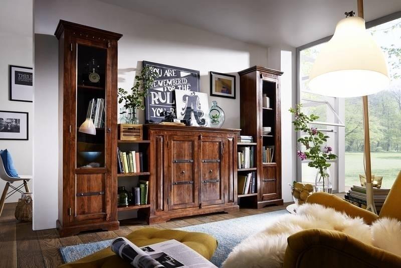 OXFORD #600 Kolonialstil obývacia stena, masívny agátový nábytok
