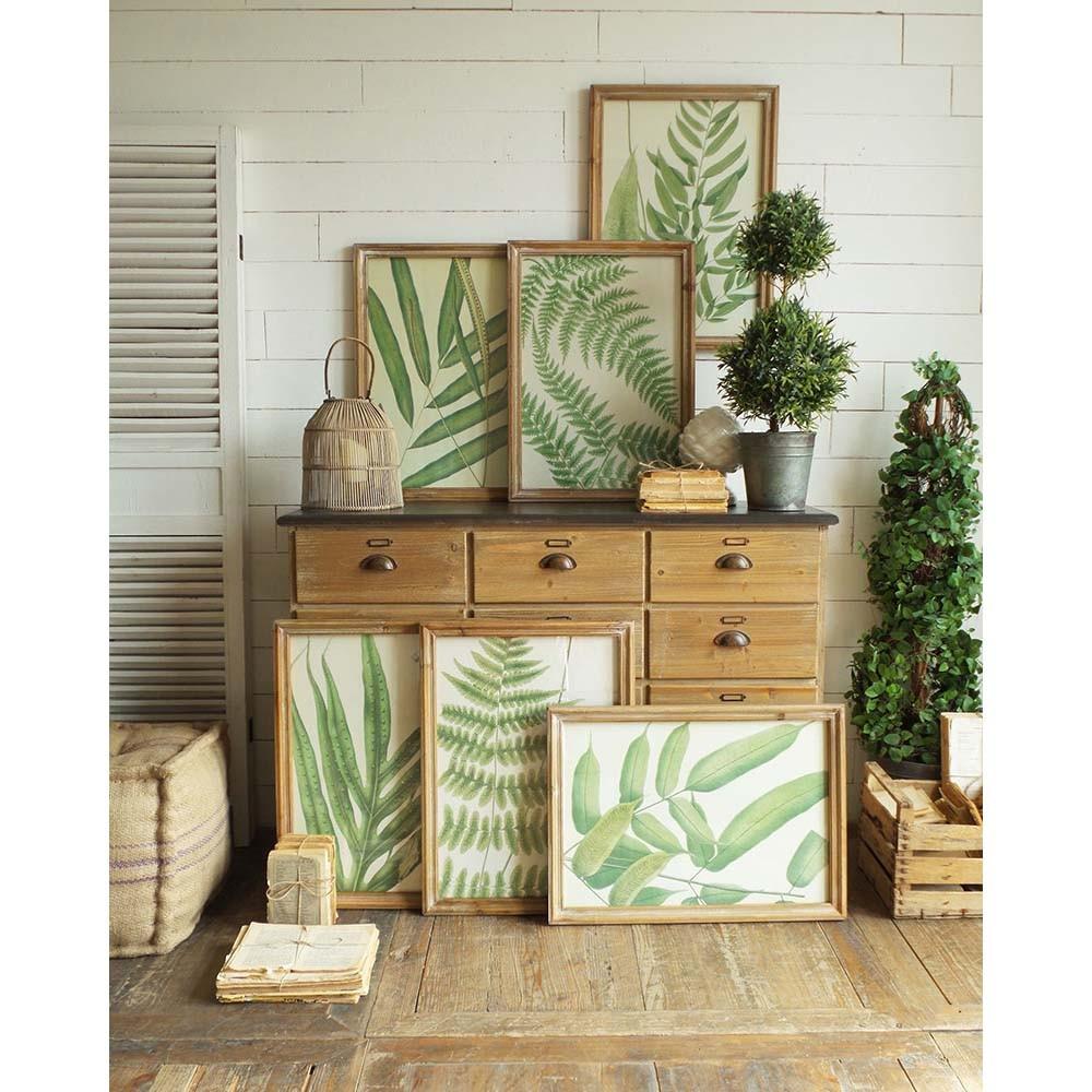 Set 6 obrazov v drevených rámoch Orchidea Milano Botanica Leaves