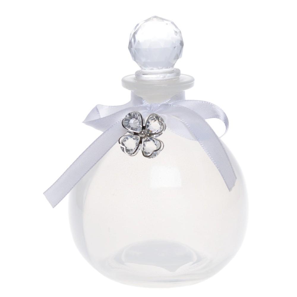 Sklenená dekoratívna fľaša Ewax Charm, výška 12 cm