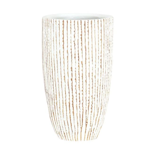 Autronic Polyresinová váza Stripe, béžová