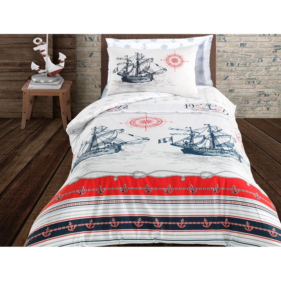 BedTex Bavlnené obliečky Nautical, 140 x 200 cm, 70 x 90 cm + 50 x 70 cm