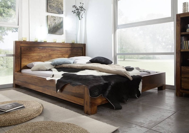 Bighome - DAKOTA Masívny indický palisander, posteľ 140x200 #135