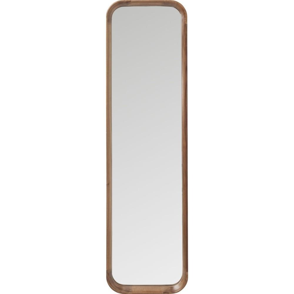 Zrkadlo s hnedým dreveným rámom Kare Design Denver, 123 x 33 cm