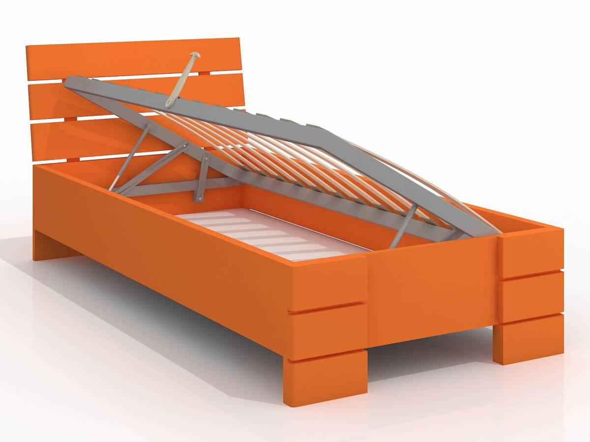 Jednolôžková posteľ 90 cm Naturlig Kids Lorenskog High BC (borovica) (s roštom)
