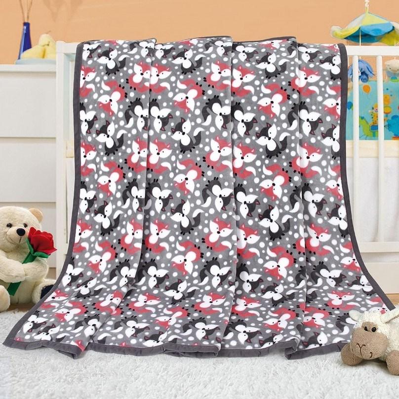 Bellatex Detská deka Ella Líštičky, 100 x 155 cm