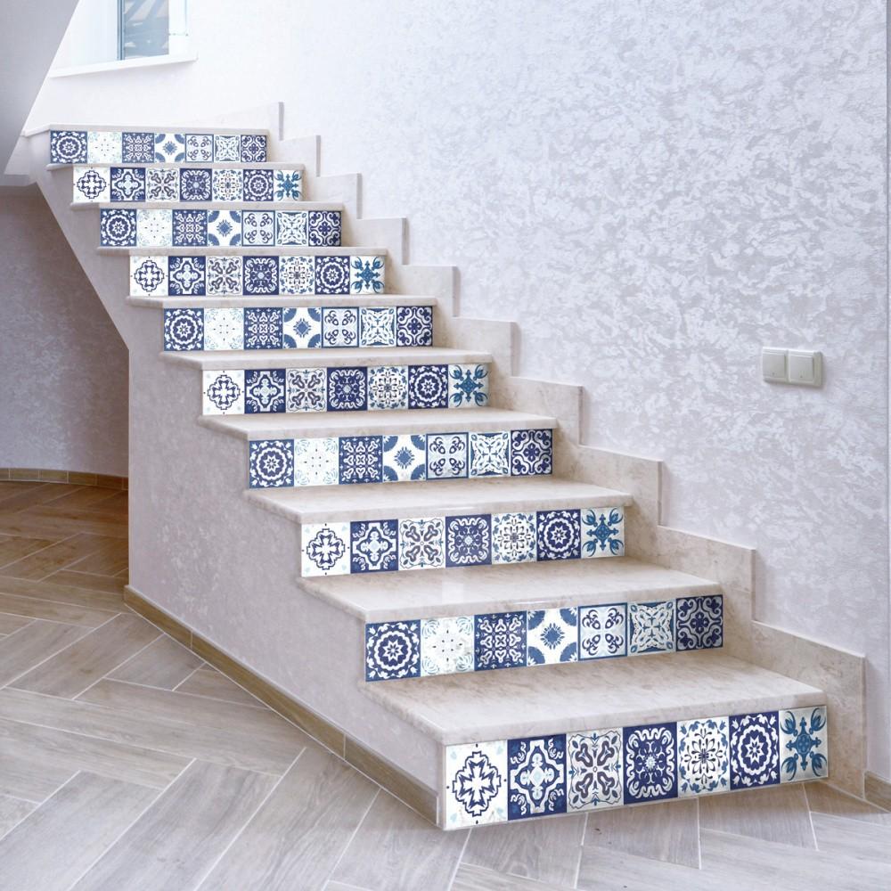 Sada 2 samolepiek na schody Ambiance Fedora, 15×105 cm