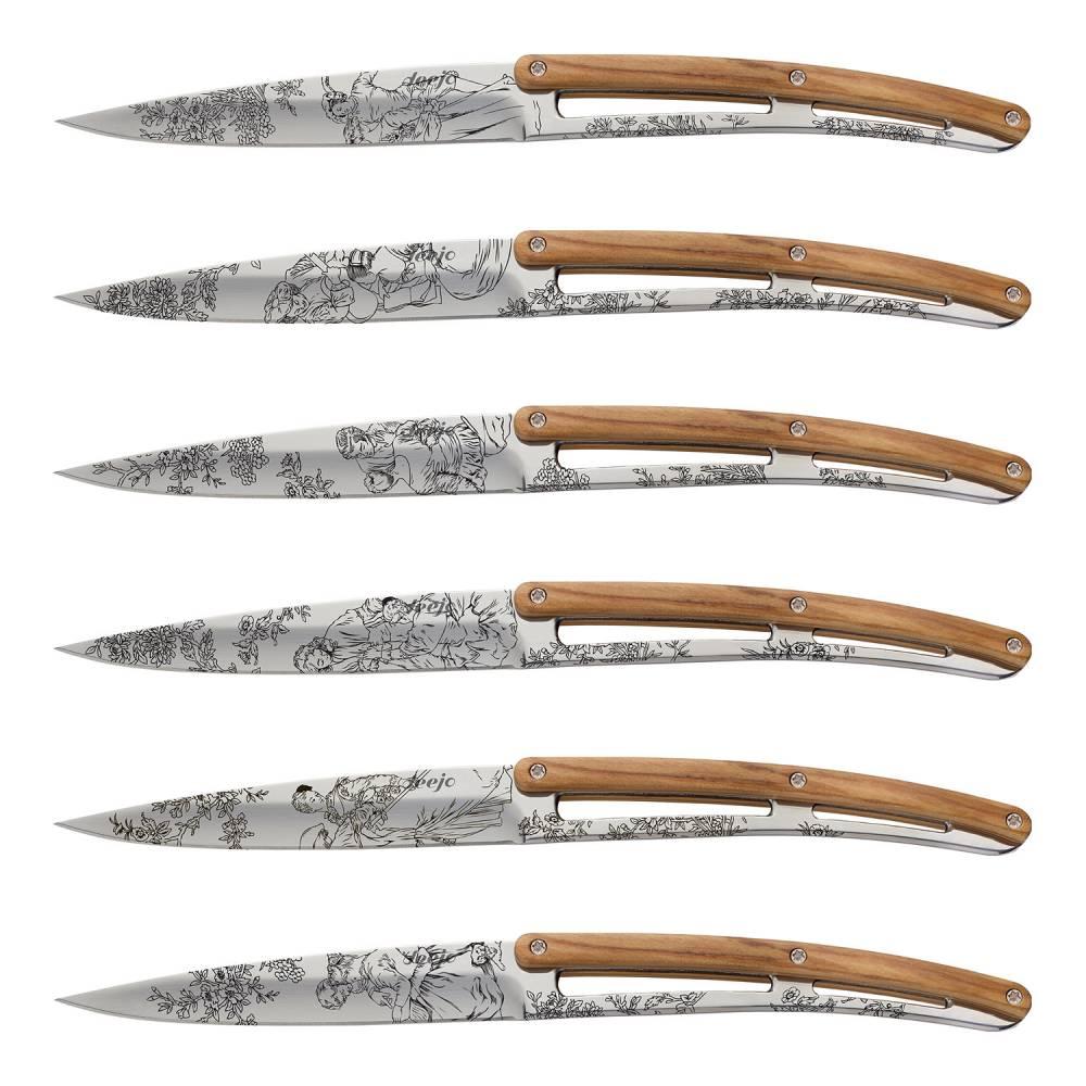 Súprava steakových nožov 6-dielna olive, mirror Toile de Jouy  + 10% zľava na celý nákup s kódom: LETO10