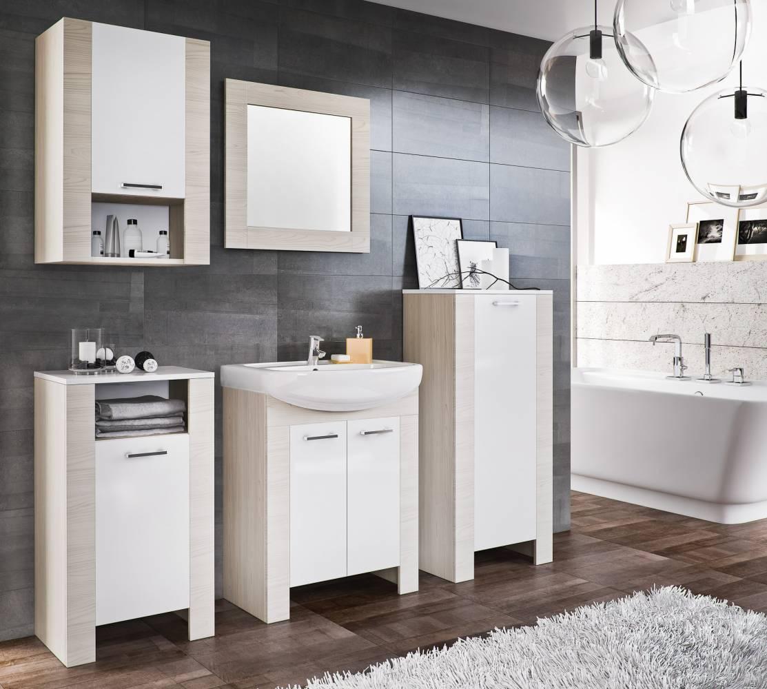 Italia  biela/duglaska bielená - kúpeľňová zostava